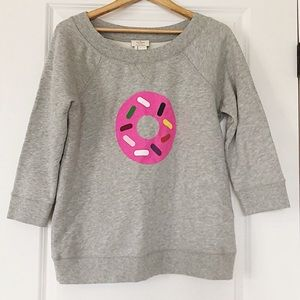 Kate Spade Gray Doughnut Sweatshirt Size Medium